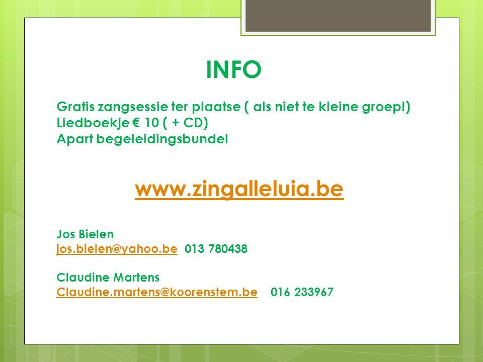 INFO www.zingalleluia.be