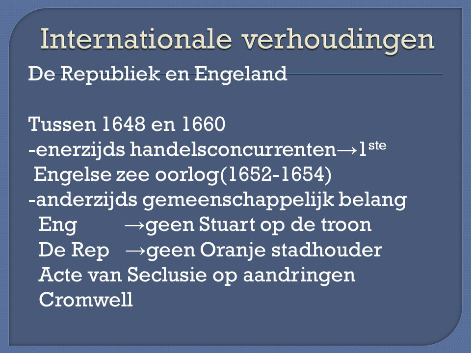 Internationale verhoudingen
