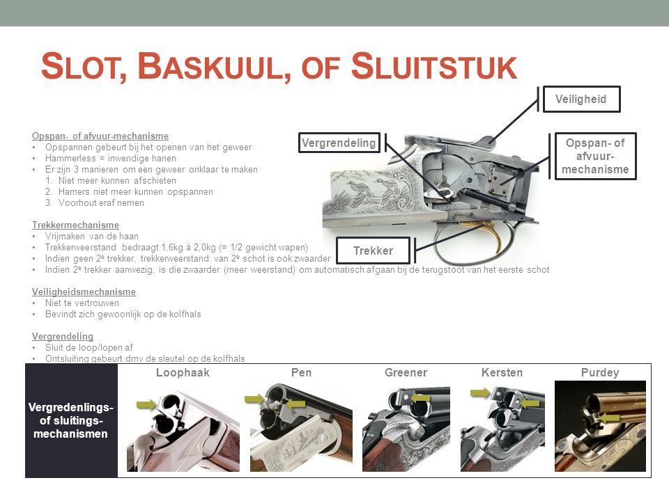 Slot, Baskuul, of Sluitstuk