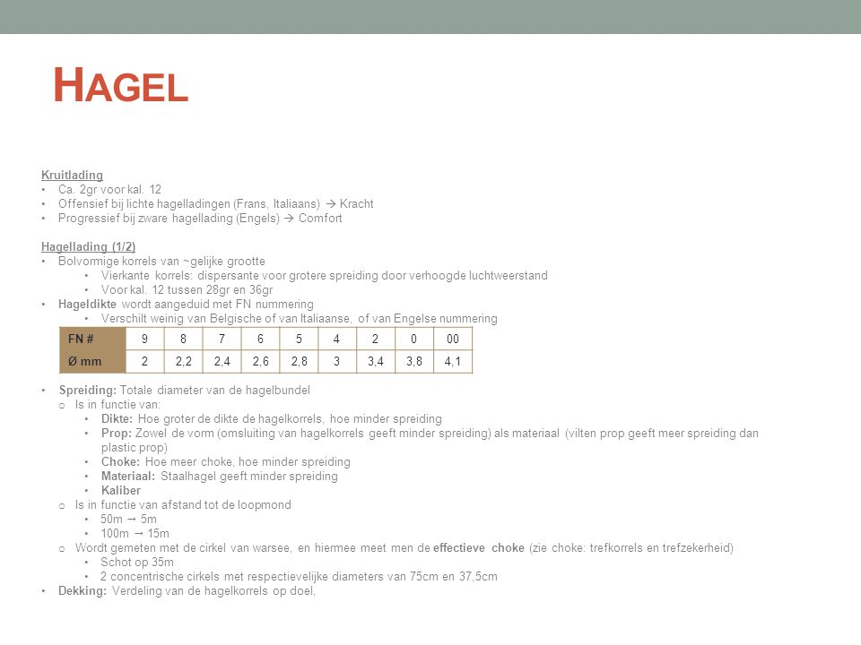 Hagel Kruitlading Ca. 2gr voor kal. 12