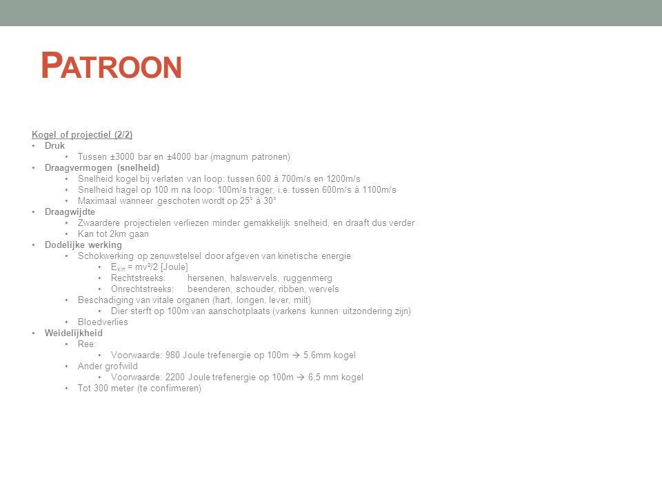 Patroon Kogel of projectiel (2/2) Druk
