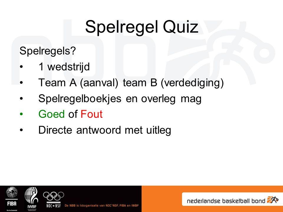 Spelregel Quiz Spelregels 1 wedstrijd