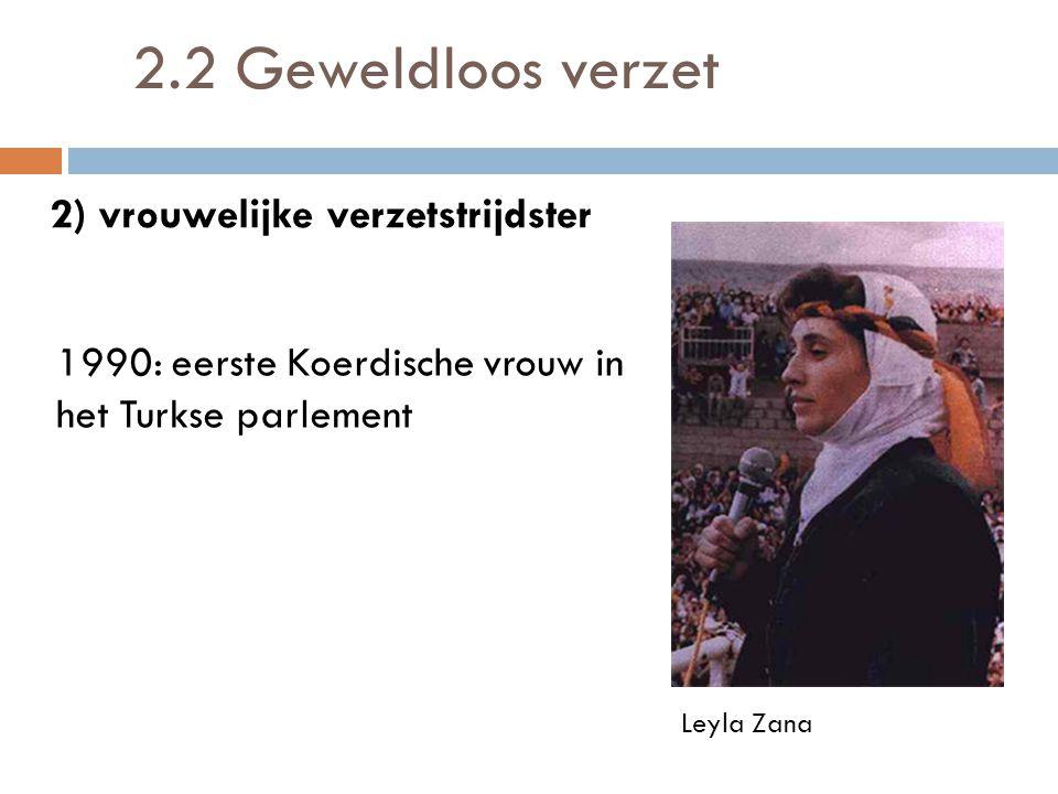 2.2 Geweldloos verzet 2) vrouwelijke verzetstrijdster
