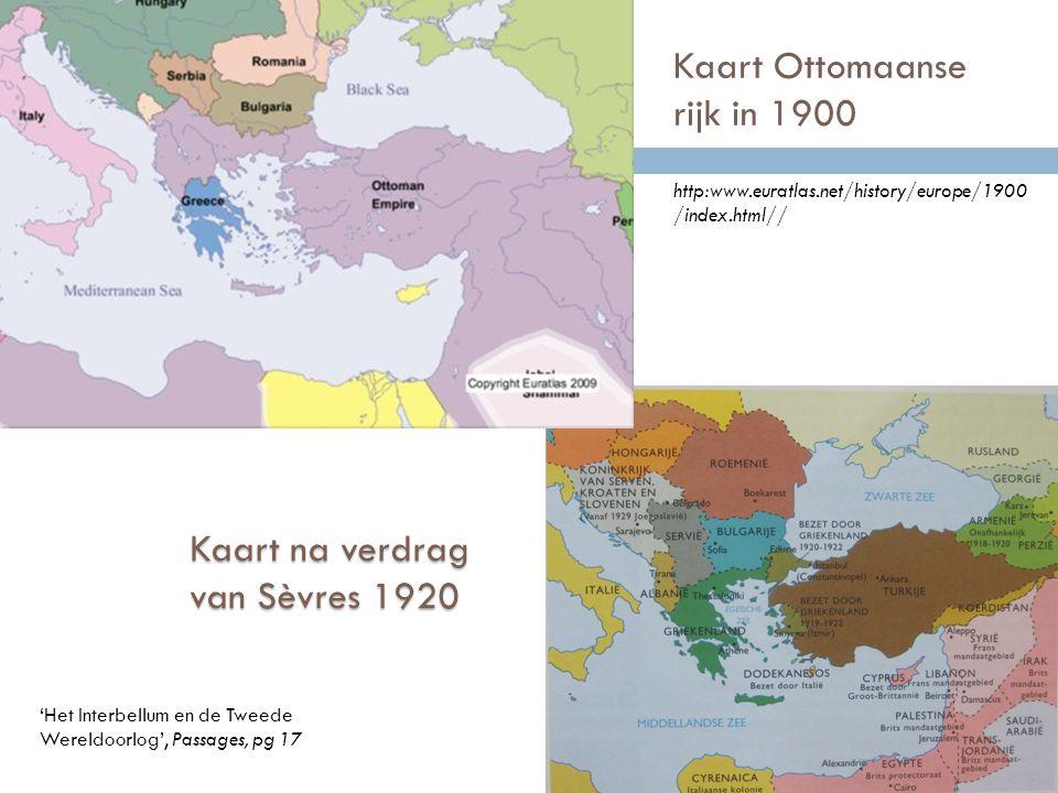 Kaart Ottomaanse rijk in 1900