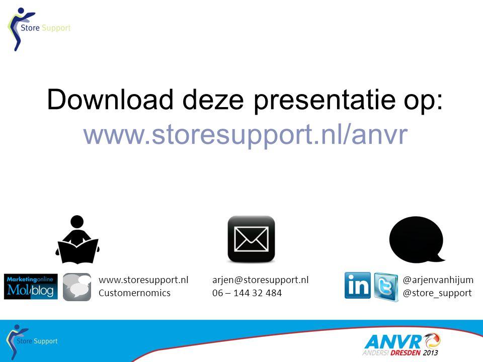 Download deze presentatie op: www.storesupport.nl/anvr