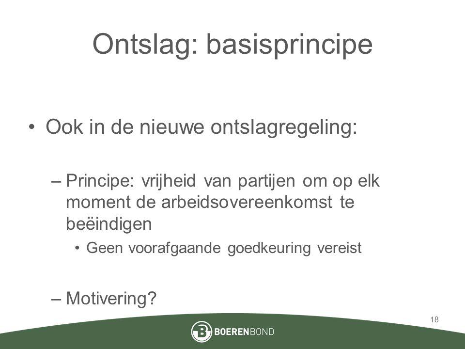 Ontslag: basisprincipe
