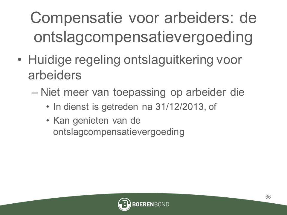 Compensatie voor arbeiders: de ontslagcompensatievergoeding