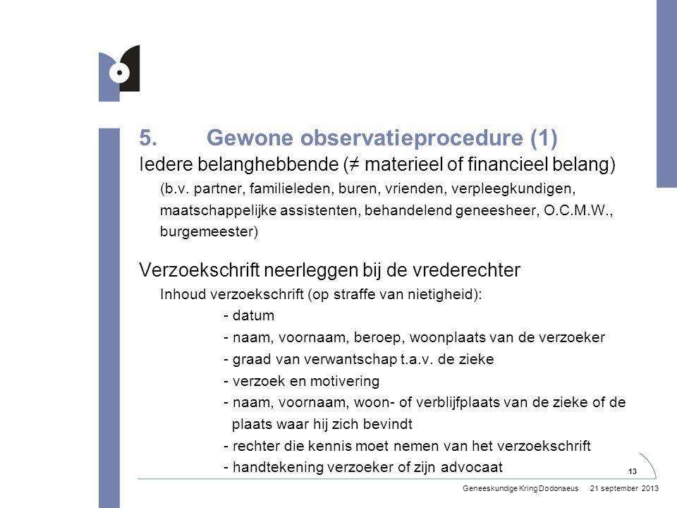 5. Gewone observatieprocedure (1)