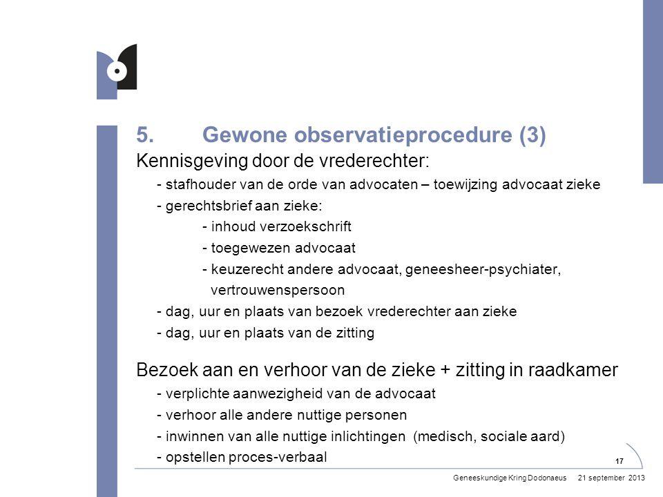 5. Gewone observatieprocedure (3)