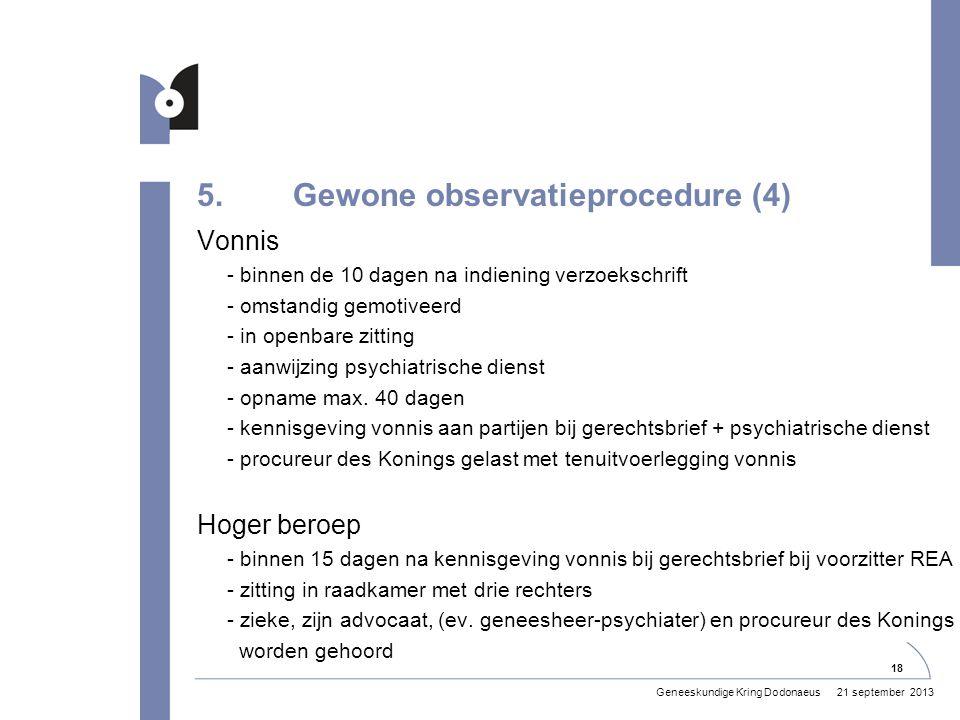 5. Gewone observatieprocedure (4)
