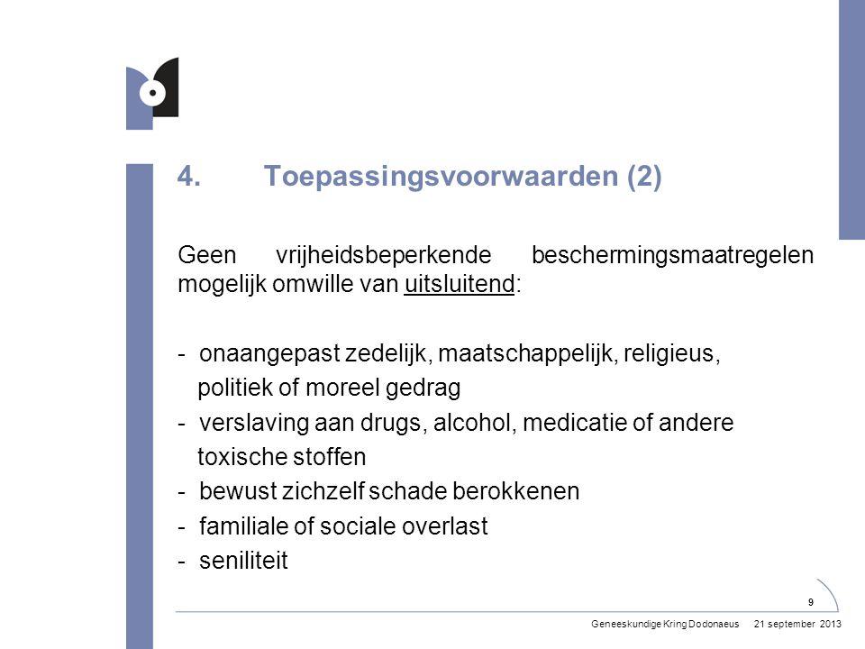 4. Toepassingsvoorwaarden (2)