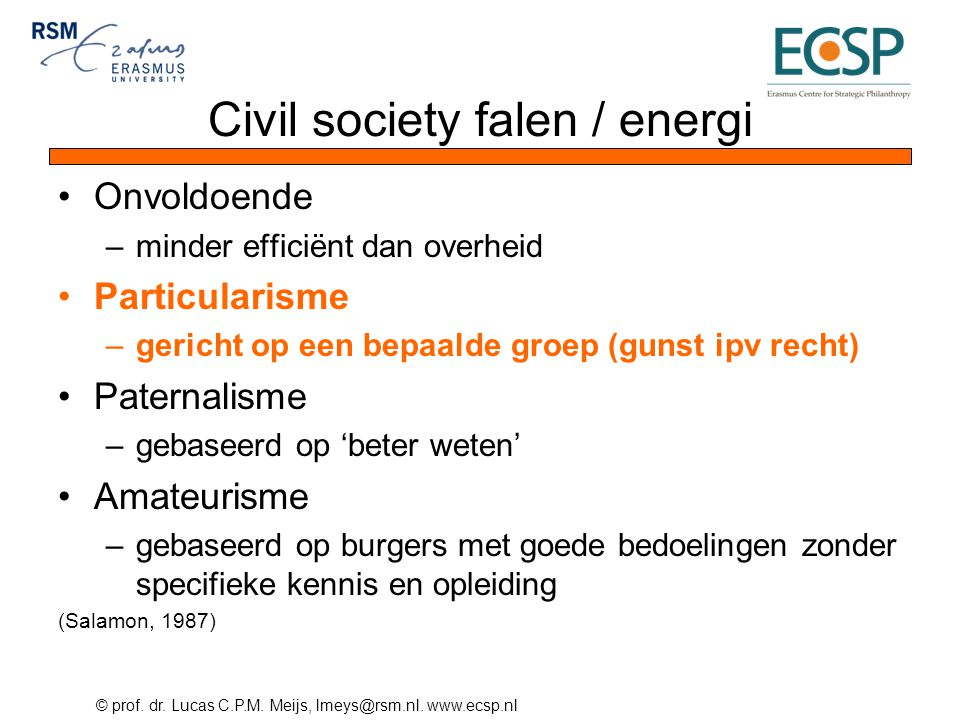 Civil society falen / energi