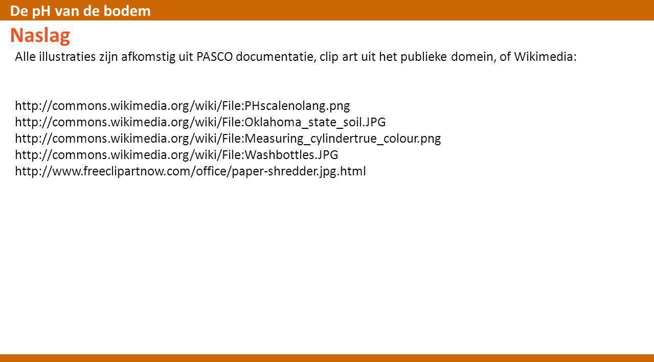 Naslag Alle illustraties zijn afkomstig uit PASCO documentatie, clip art uit het publieke domein, of Wikimedia: