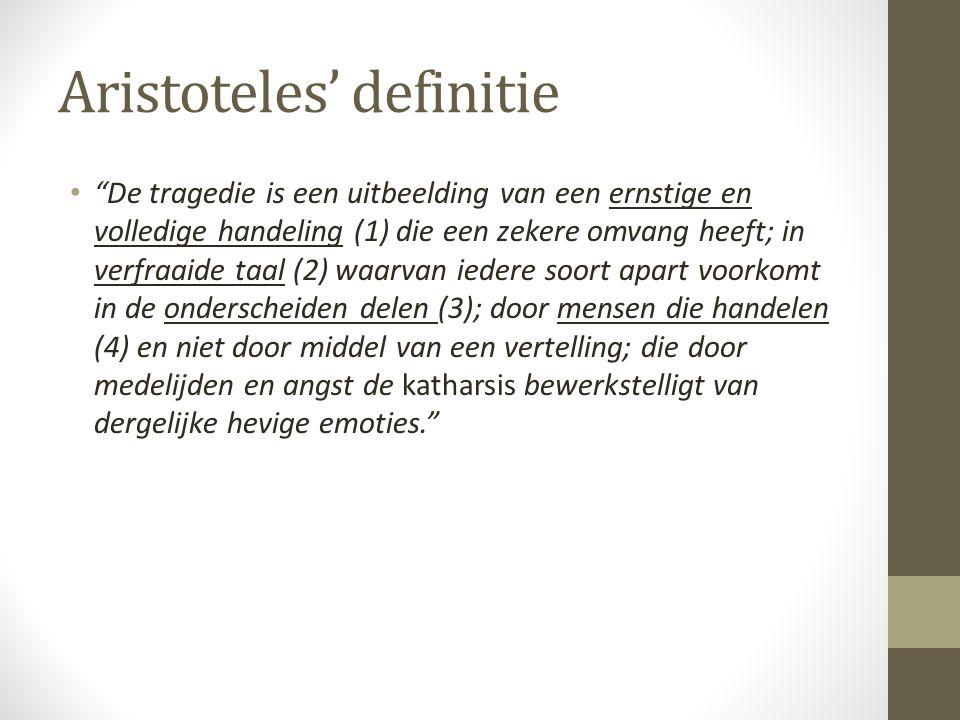 Aristoteles' definitie