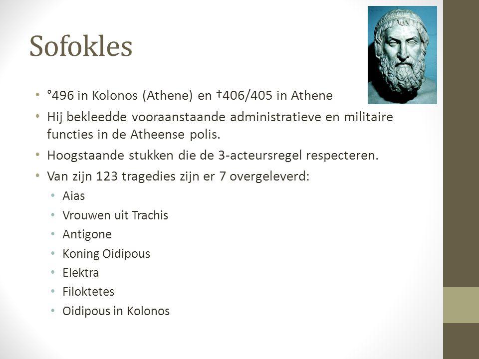 Sofokles °496 in Kolonos (Athene) en †406/405 in Athene