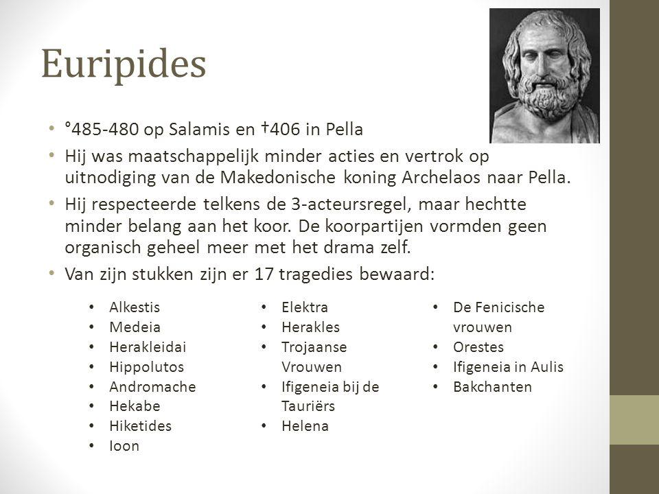 Euripides °485-480 op Salamis en †406 in Pella