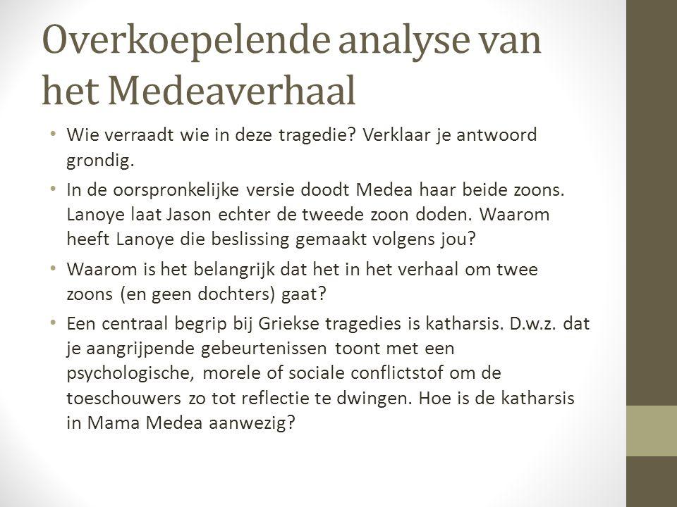 Overkoepelende analyse van het Medeaverhaal