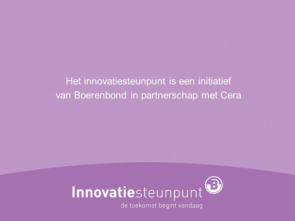 Het innovatiesteunpunt is een initiatief