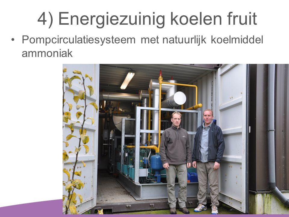 4) Energiezuinig koelen fruit