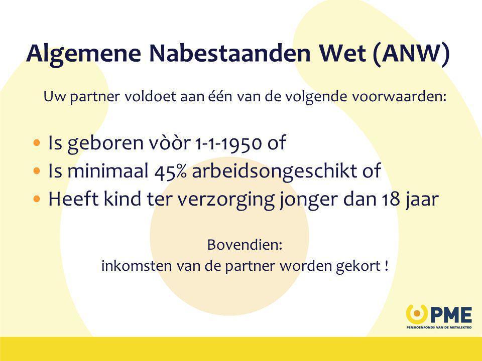 Algemene Nabestaanden Wet (ANW)
