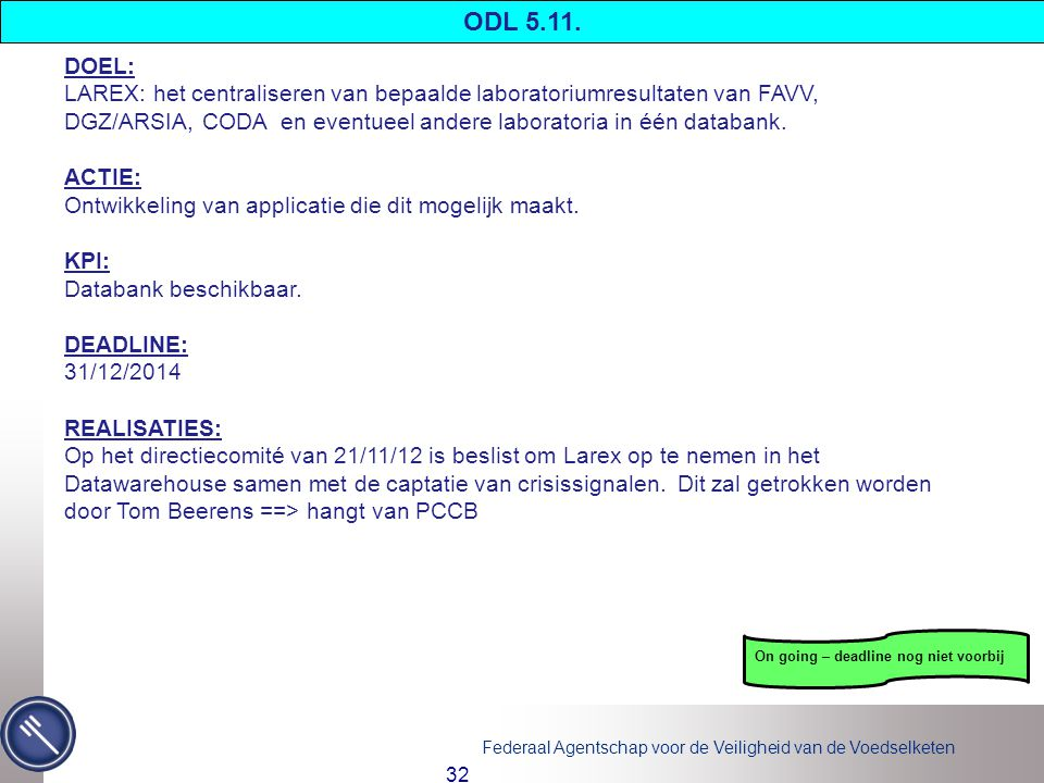 ODL 5.11. DOEL: