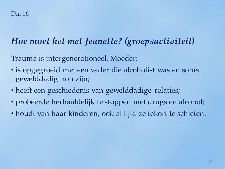 Hoe moet het met Jeanette (groepsactiviteit)