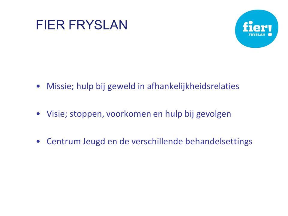 Fier Fryslan Missie; hulp bij geweld in afhankelijkheidsrelaties