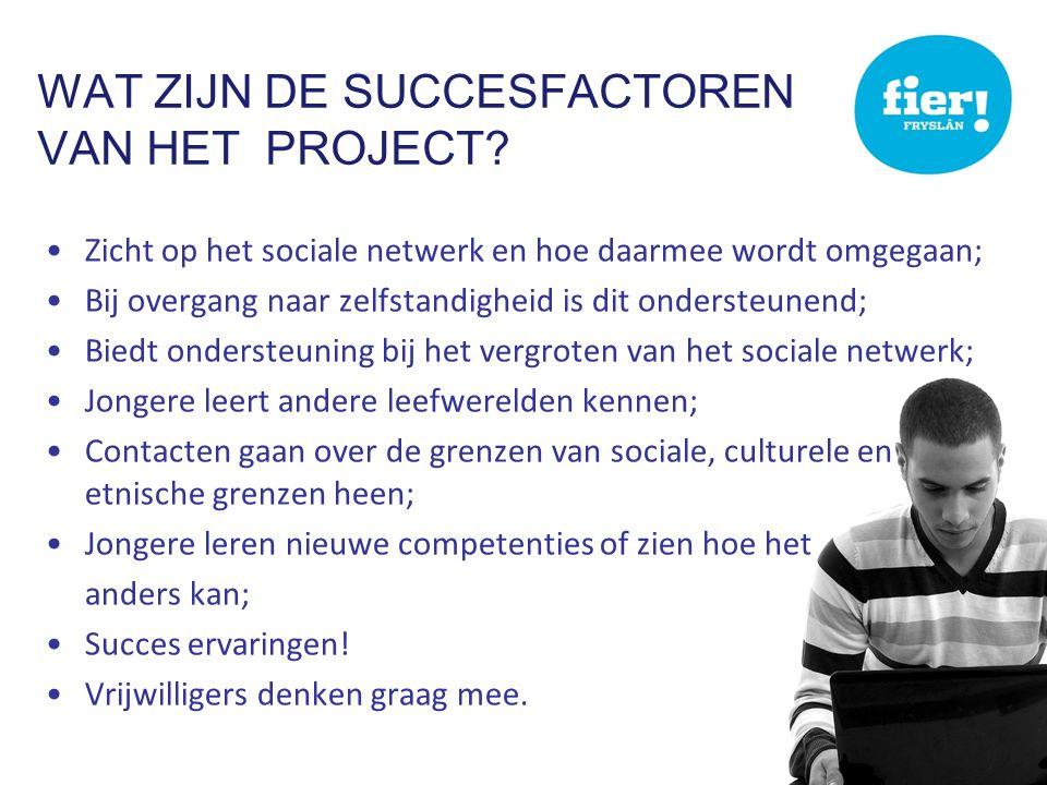 Wat zijn de succesfactoren van het project