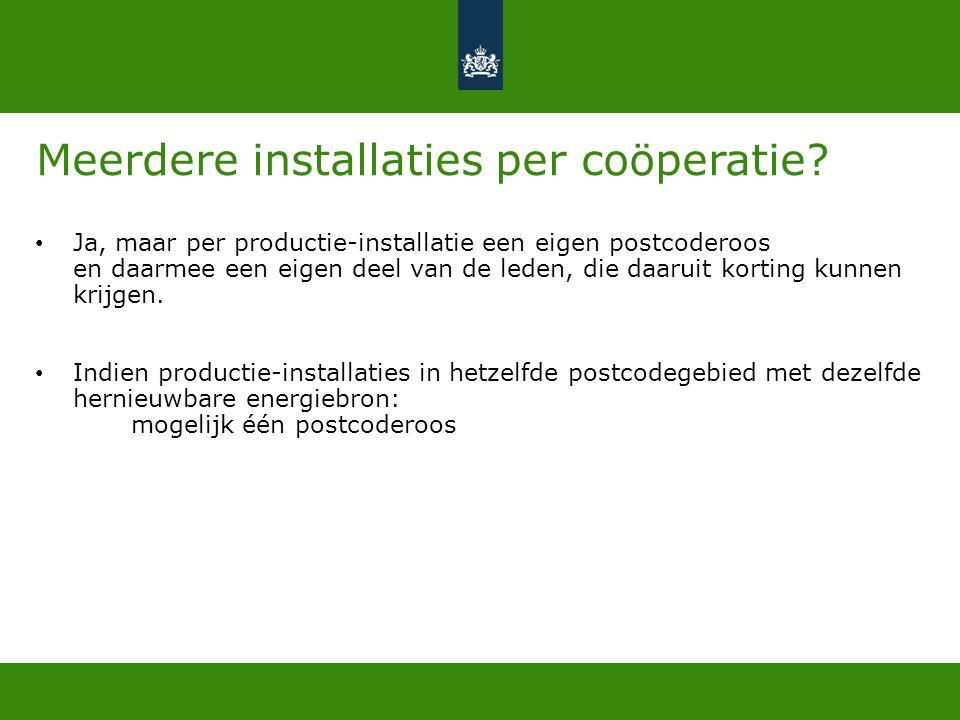 Meerdere installaties per coöperatie