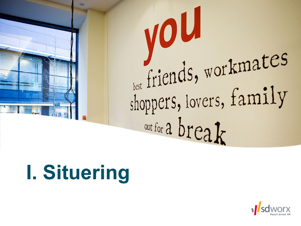 I. Situering