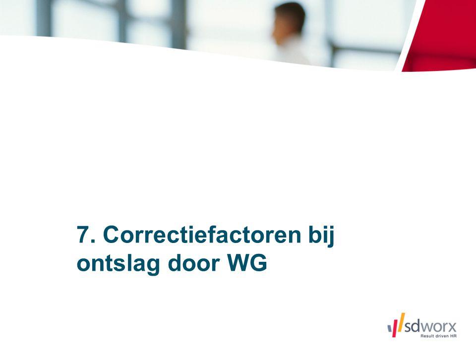 7. Correctiefactoren bij ontslag door WG