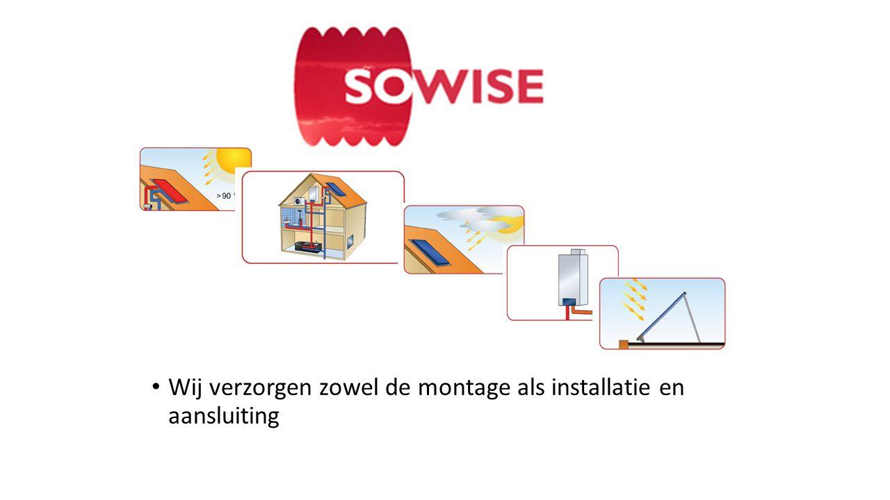 Wij verzorgen zowel de montage als installatie en aansluiting