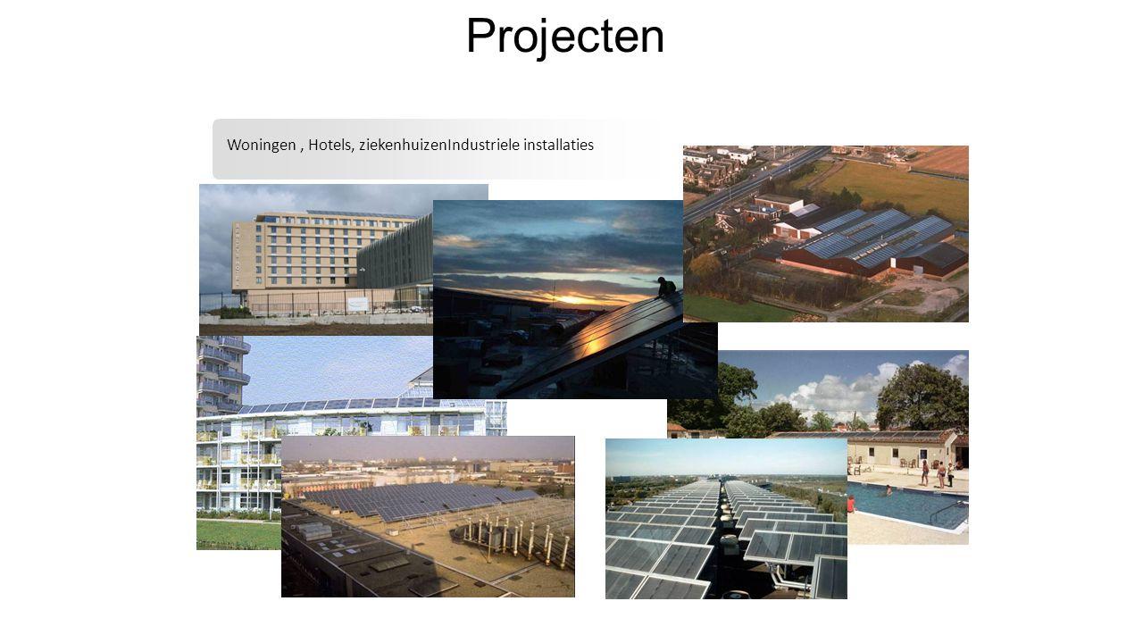 Projecten Woningen , Hotels, ziekenhuizenIndustriele installaties