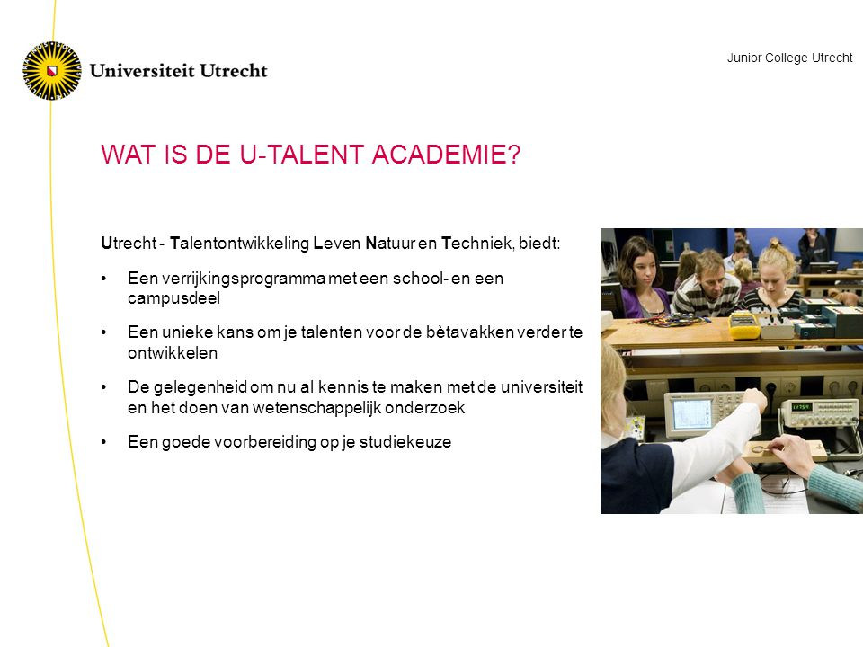 WAT IS DE U-TALENT ACADEMIE