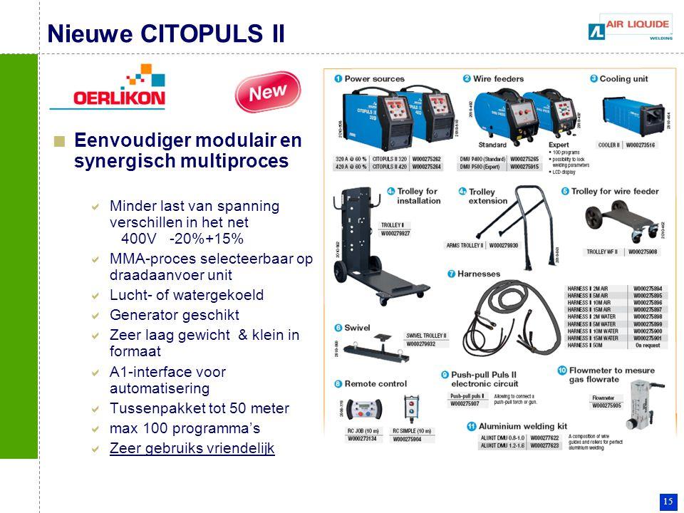 Nieuwe CITOPULS II Eenvoudiger modulair en synergisch multiproces