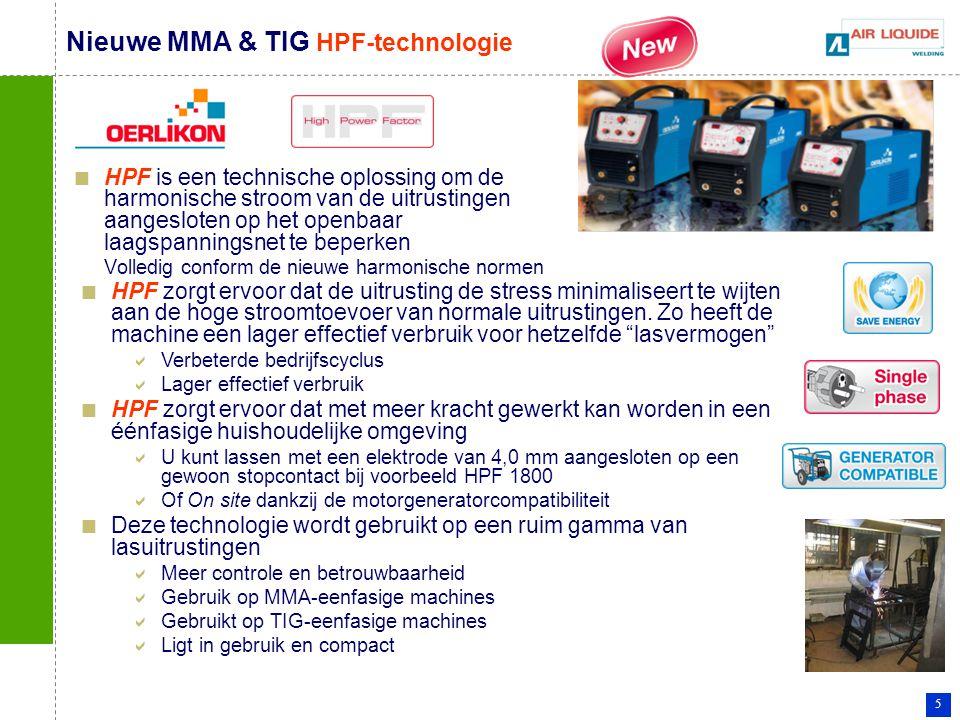 Nieuwe MMA & TIG HPF-technologie