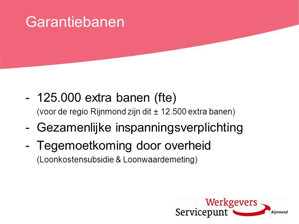 Garantiebanen 125.000 extra banen (fte)
