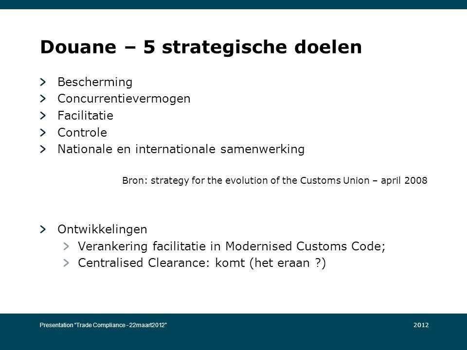 Douane – 5 strategische doelen