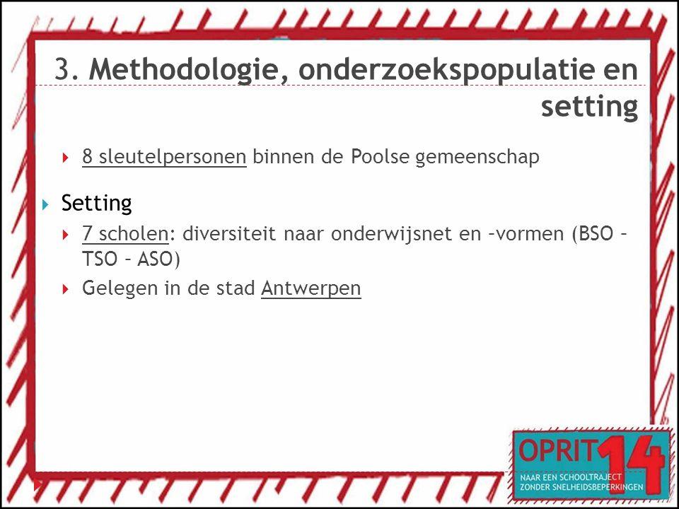 3. Methodologie, onderzoekspopulatie en setting