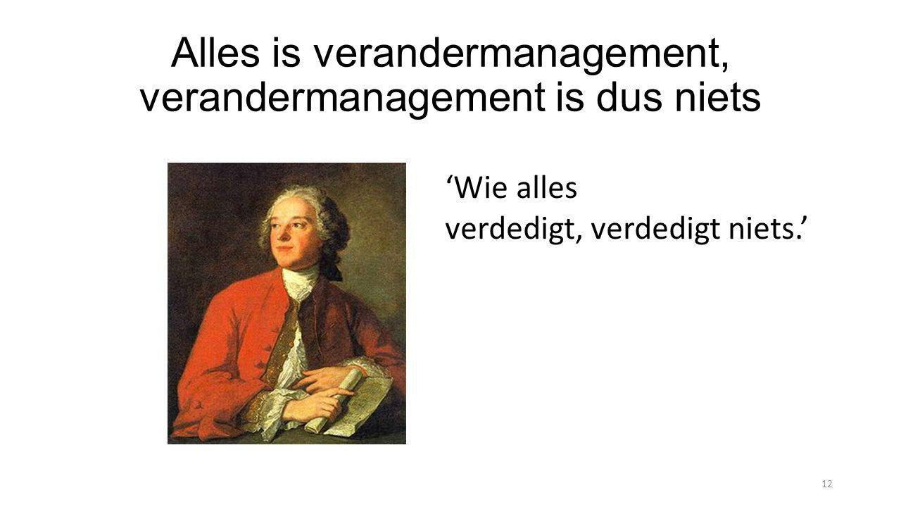 Alles is verandermanagement, verandermanagement is dus niets