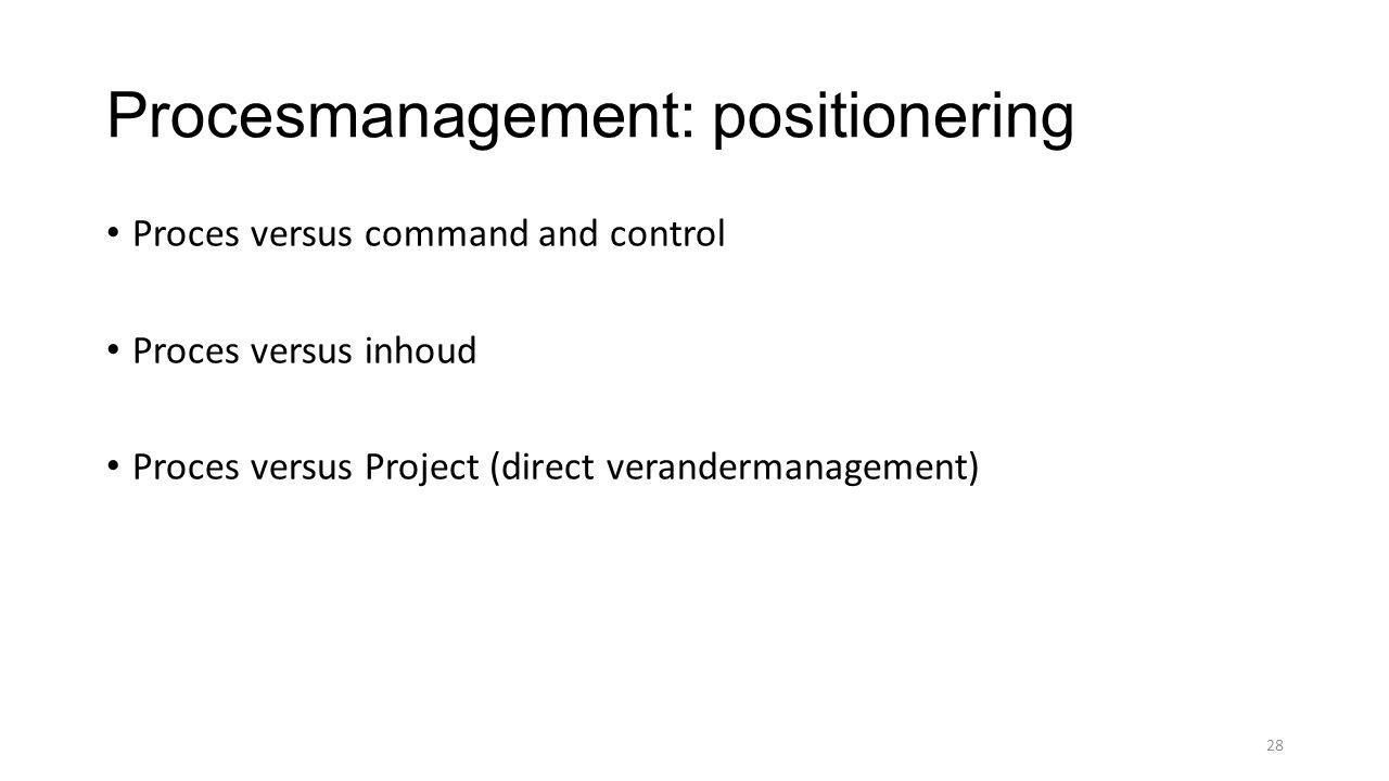 Procesmanagement: positionering