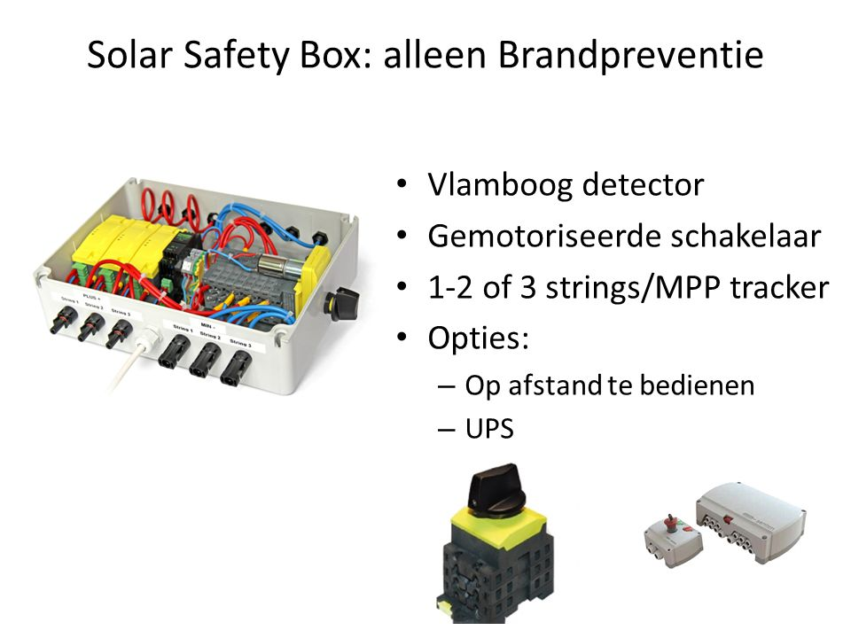 Solar Safety Box: alleen Brandpreventie