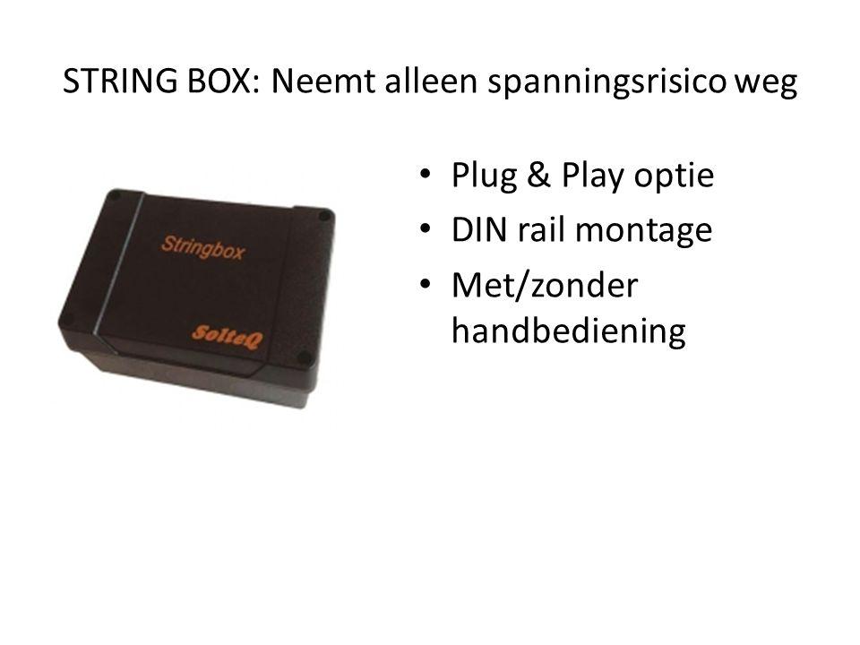 STRING BOX: Neemt alleen spanningsrisico weg