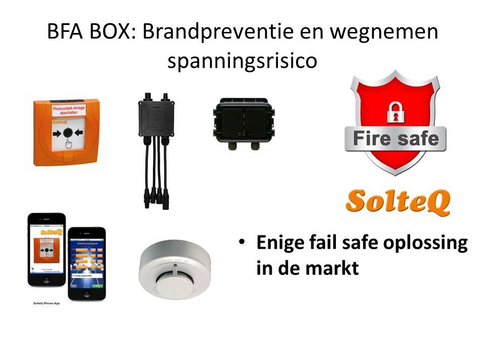 BFA BOX: Brandpreventie en wegnemen spanningsrisico