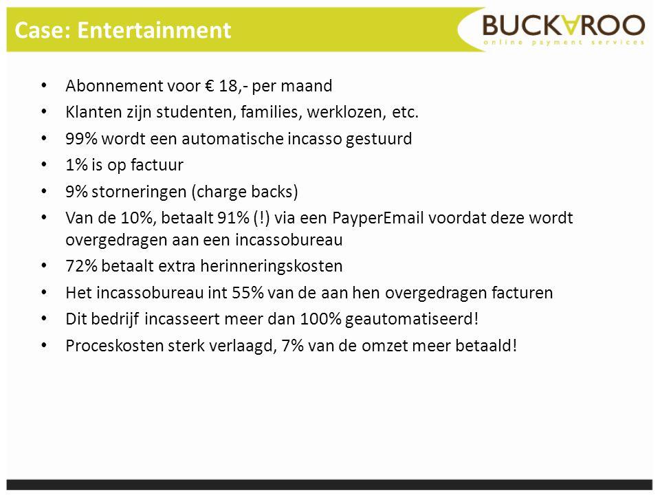Case: Entertainment Abonnement voor € 18,- per maand