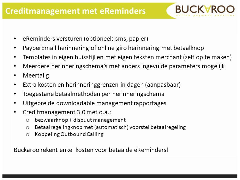 Creditmanagement met eReminders