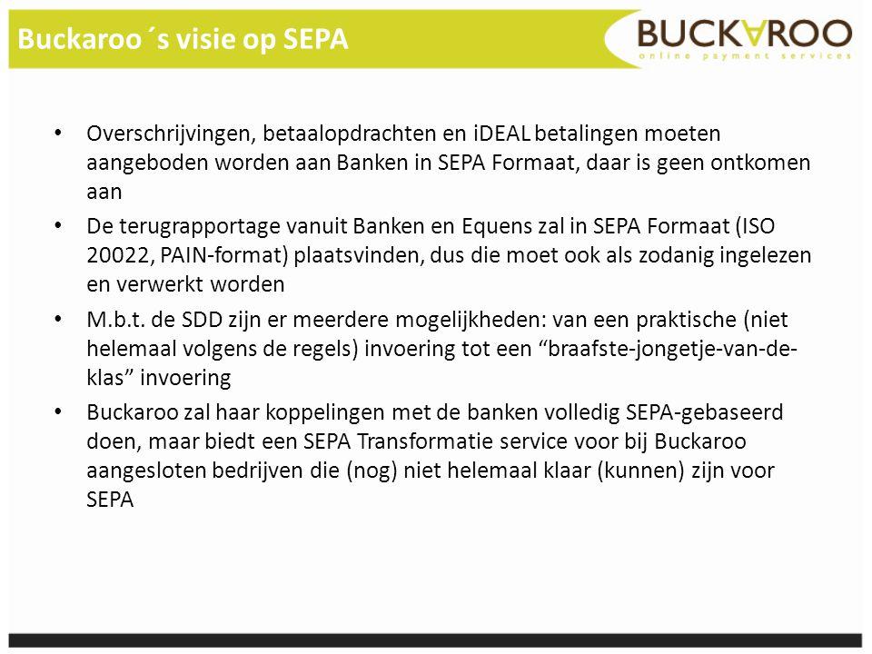 Buckaroo ´s visie op SEPA