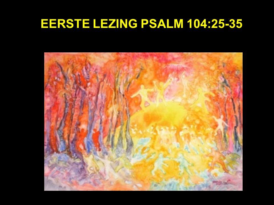 Eerste lezing psalm 104:25-35