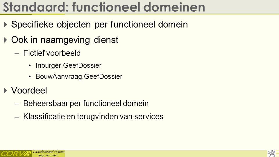 Standaard: functioneel domeinen