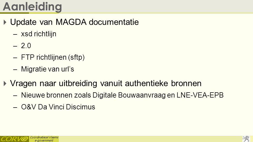 Aanleiding Update van MAGDA documentatie